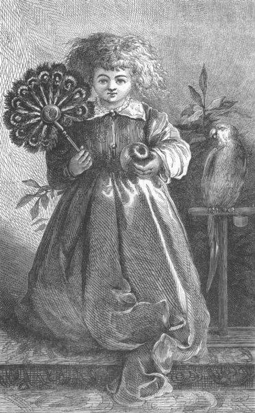 Associate Product CHILDREN. A Sketch, antique print, 1871