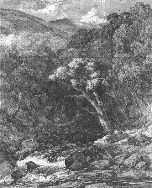 Associate Product SCOTLAND. Ravine in Glen Tilt, antique print, 1856