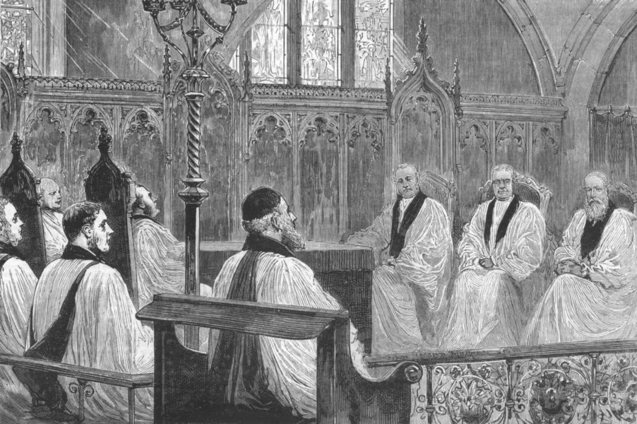 Associate Product NEWCASTLE. Church Congress, St Nicholas Church, antique print, 1881