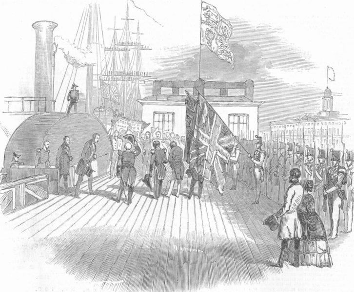 Associate Product HANTS. Prince Albert landing, Albert Pier, Portsea, antique print, 1847