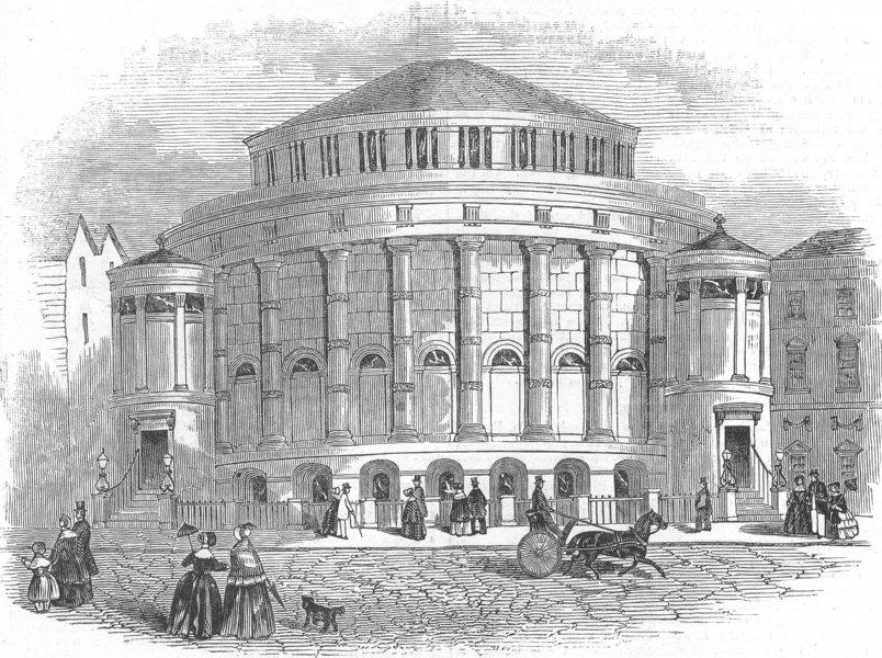 Associate Product LEICS. New Baptist Chapel, Leicester, antique print, 1845