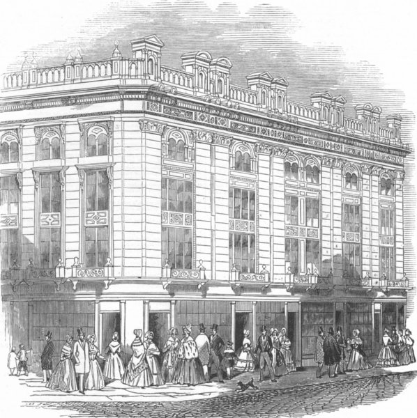 Associate Product LONDON. -New Coventry St, antique print, 1845