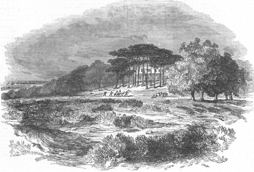 Associate Product LONDON. Hampstead Heath, antique print, 1844