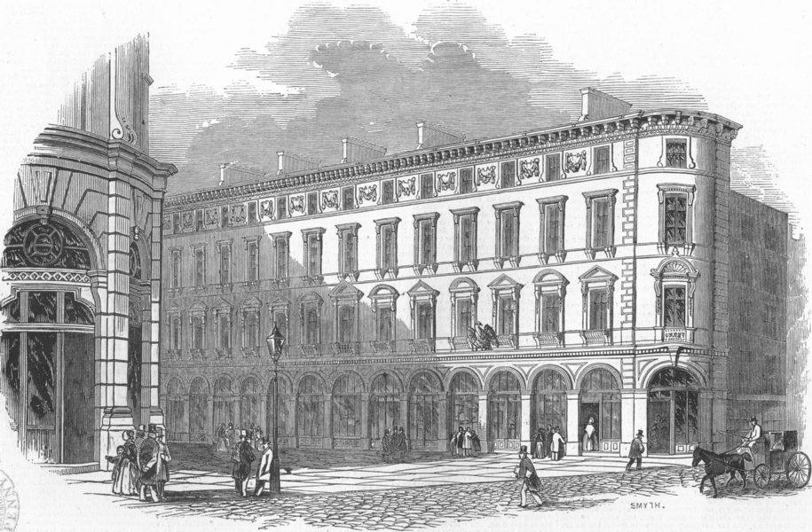 Associate Product LONDON. Royal Exchange Buildings, antique print, 1845