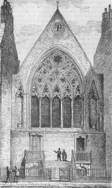Associate Product LONDON. London. Ely Chapel, Holborn, antique print, 1874