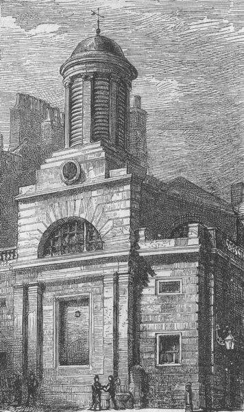 Associate Product LONDON. St Martin Outwich church, Bishopsgate, antique print, 1874