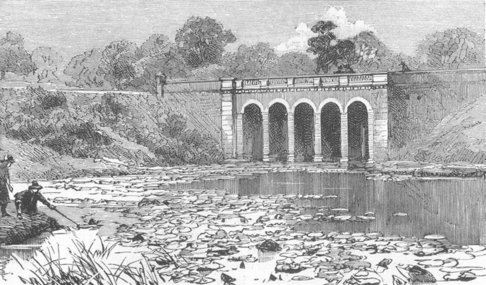 Associate Product LONDON. The Viaduct, antique print, 1887
