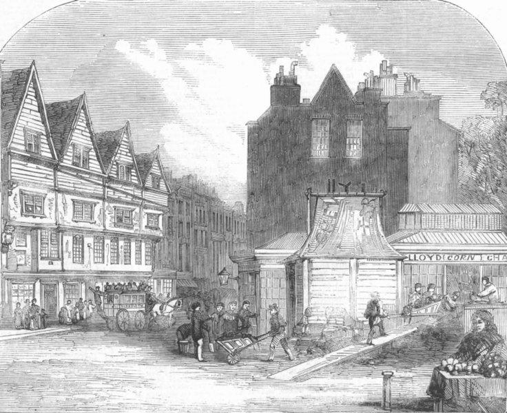 Associate Product LONDON. Draining boring Operation, Gray's Inn Lane, antique print, 1859