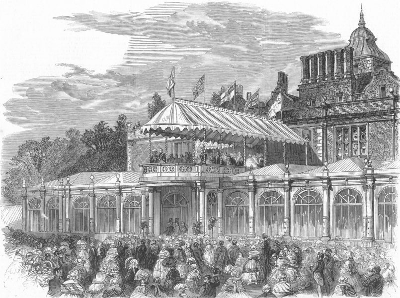 Associate Product WARCS. The opening of Aston Park, antique print, 1858