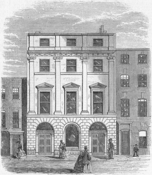 Associate Product CONDUIT ST. Architectural Union , antique print, 1859