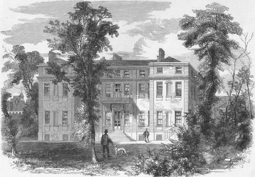 Associate Product MARLBOROUGH HOUSE. Pall Mall, future of Prince Wales, antique print, 1859