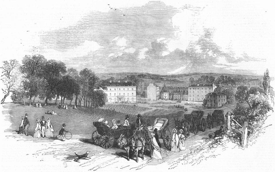 Associate Product YORKS. Harrogate, Yorkshire, antique print, 1856