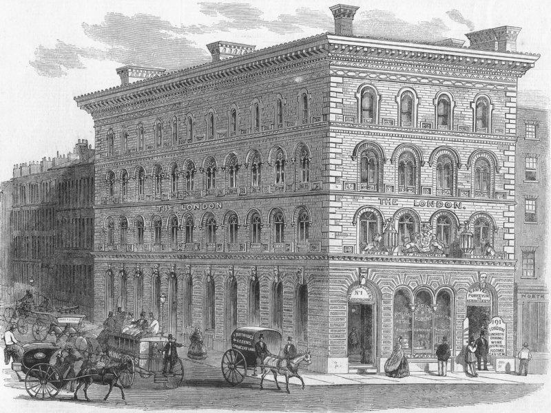 Associate Product LONDON. Chancery Lane, Fleet St, antique print, 1859