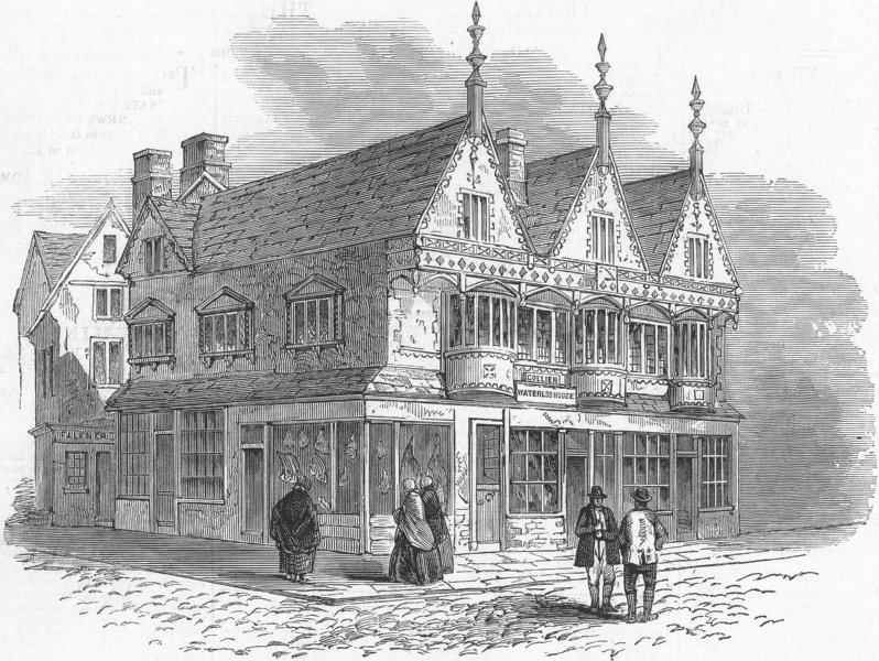 Associate Product OXON. Specimen of Architecture, Banbury, antique print, 1859