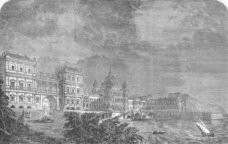 Associate Product PALACES. Royal Academy prize design(Marine Palace), antique print, 1851
