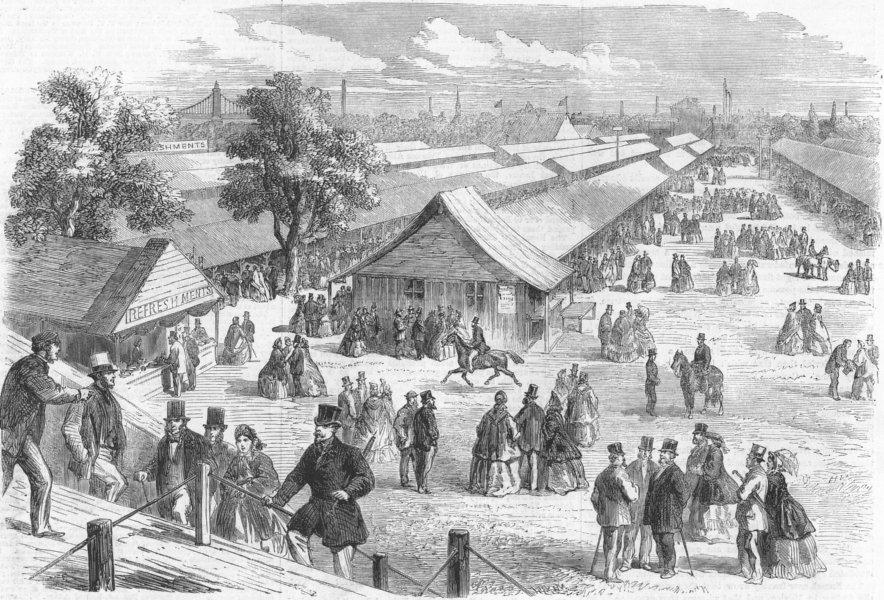 Associate Product BATTERSEA. Agricultural show , antique print, 1862