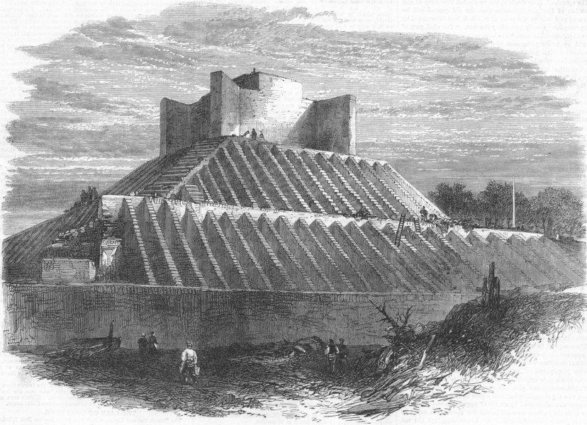 Associate Product HYDE PARK. Progress of Albert Memorial , antique print, 1865