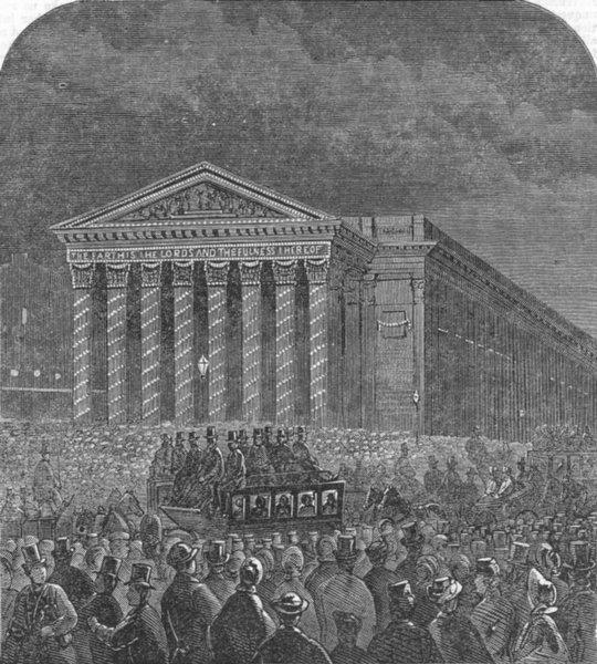 Associate Product LONDON. Lights. Royal exchange, antique print, 1863