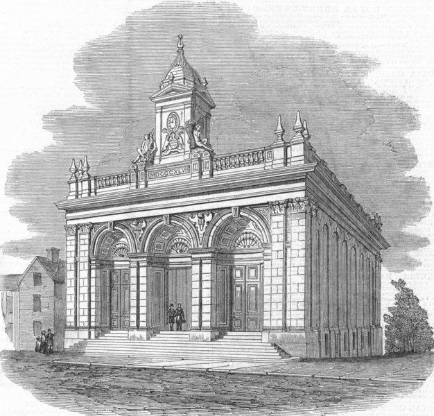 Associate Product NOTTS. Newark Corn Exchange, antique print, 1849