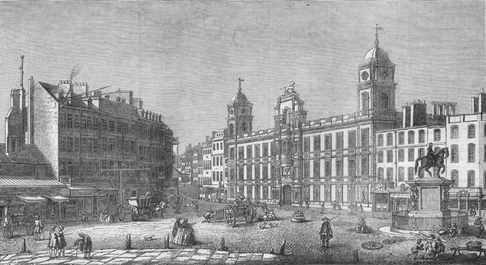 Associate Product NORTHUMBERLAND HOUSE. Charing Cross, 1753, antique print, 1873