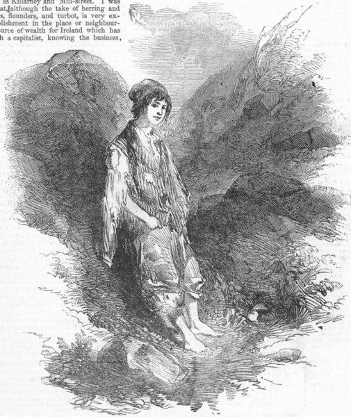 Associate Product KILLARNEY. Herd boy of Purple-Mountain, antique print, 1849