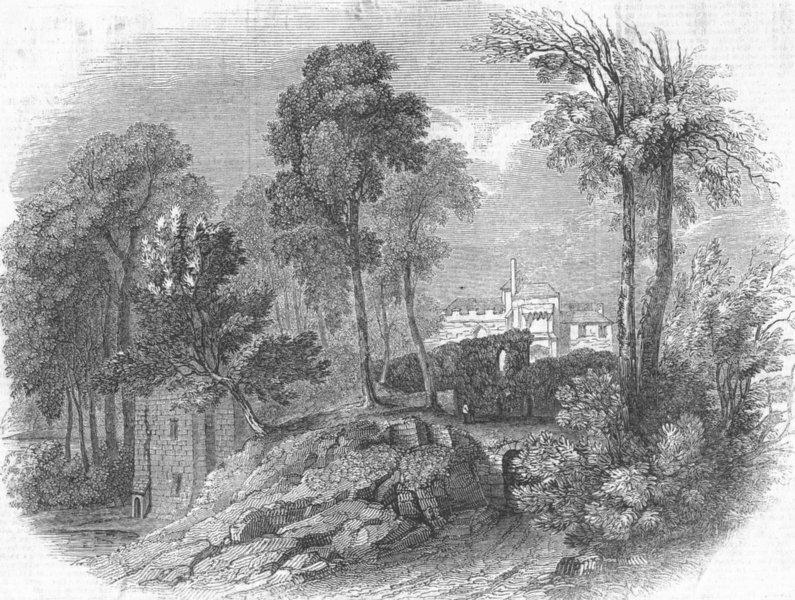 Associate Product KENT. Leeds Castle, Kent, antique print, 1846
