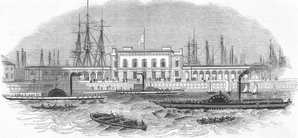 Associate Product LONDON. Blackwall-Thames Steamer, antique print, 1846