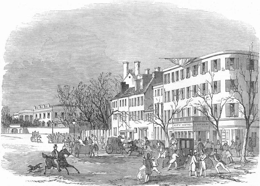 Associate Product WASHINGTON. White House-, antique print, 1853