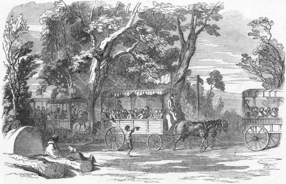 Associate Product LONDON. School Children's Hampton-Ct Holiday, antique print, 1849
