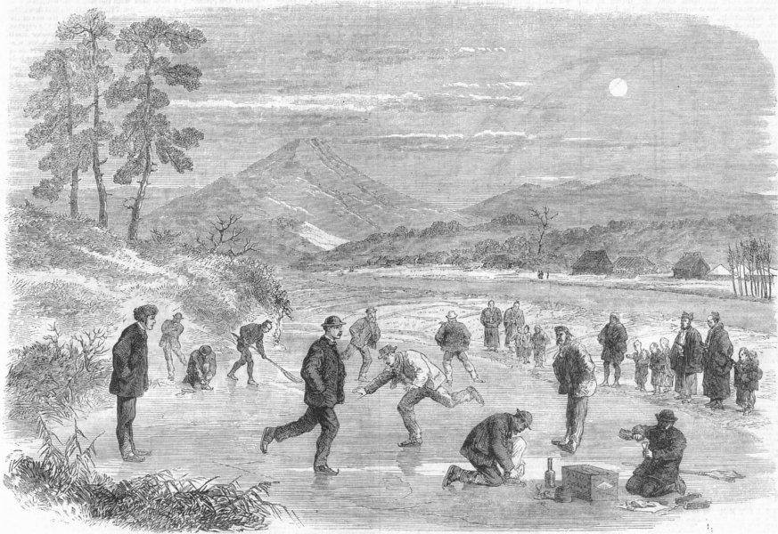 Associate Product JAPAN. Trade treaty. Skating, Yokohama , antique print, 1865
