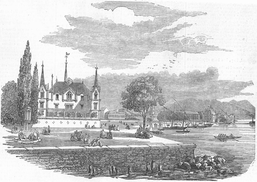 Associate Product SWITZERLAND. Vevey & Lake Geneva, antique print, 1852