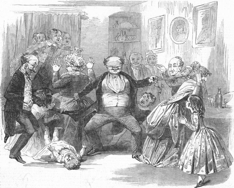 Associate Product CARTOONS. Blindman's-Buff, antique print, 1849