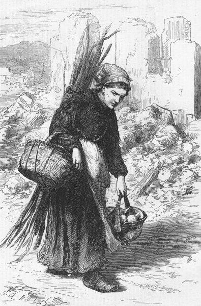Associate Product FRANCE. Paris Commune. little Relish for my good man, antique print, 1871