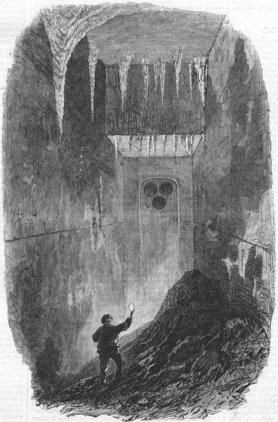 Associate Product ISRAEL. Passage, Haram wall, Jerusalem. Palestine, antique print, 1869