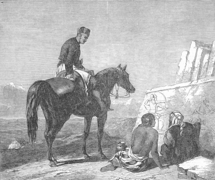 Associate Product HORSES. He was Mighty Hunter before Lord, antique print, 1851