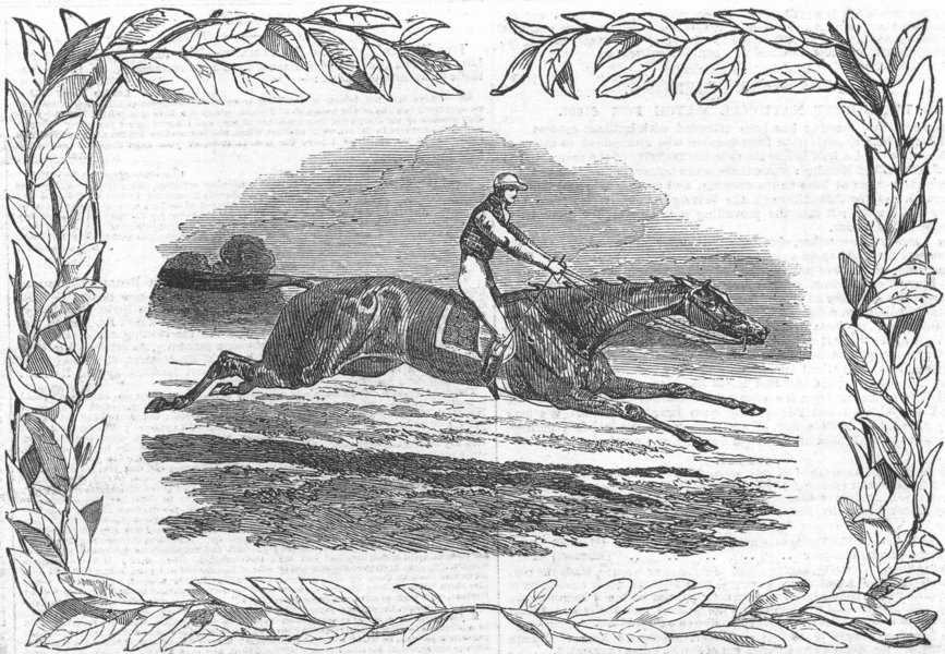 Associate Product YORKS. Flying Dutchman, Winner, York Spring mtg , antique print, 1851
