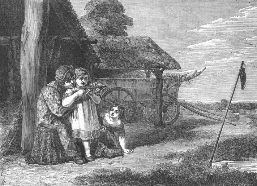 Associate Product FAMILY. The Archers, antique print, 1851