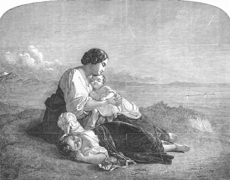 Associate Product FAMILY. Neapolitan Fisherman's, antique print, 1851