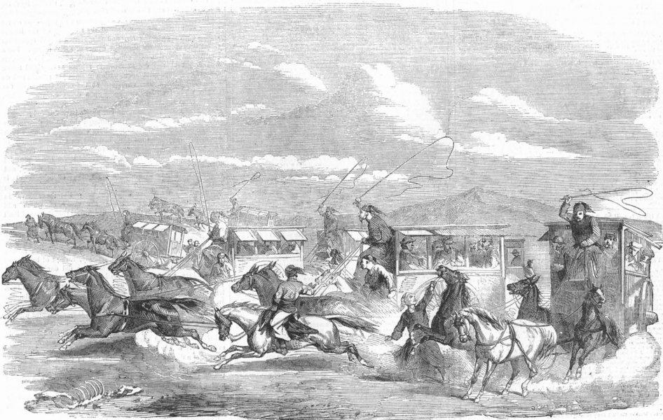 Associate Product INDIA. Crossing the Suez Isthmus, antique print, 1858