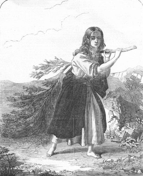 Associate Product CHILDREN. Denise(Lamartine)stone-cutter St Point, antique print, 1852
