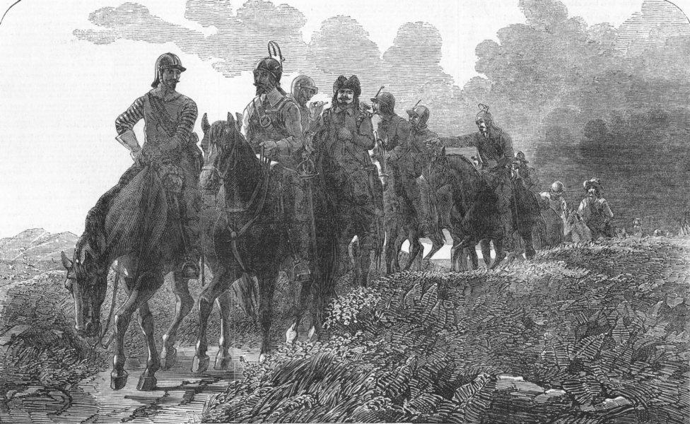 Associate Product HORSES. Free Companions, antique print, 1852