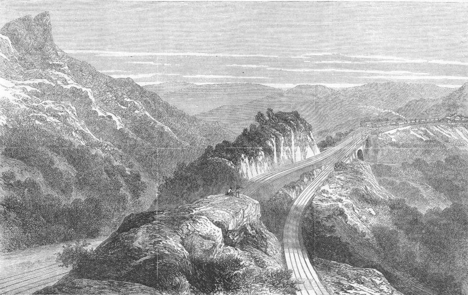 Associate Product INDIA. Reversing station, Bhore Ghat, antique print, 1869