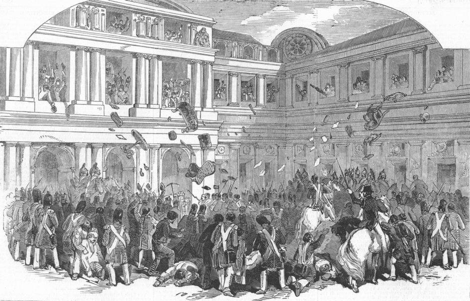 Associate Product FRANCE. Destruction, Palais Royal, antique print, 1848