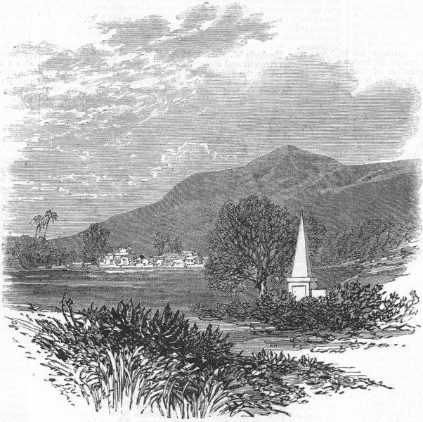Associate Product INDIA. Machurda Village. Tombs of Latouche & Hebbert, antique print, 1869