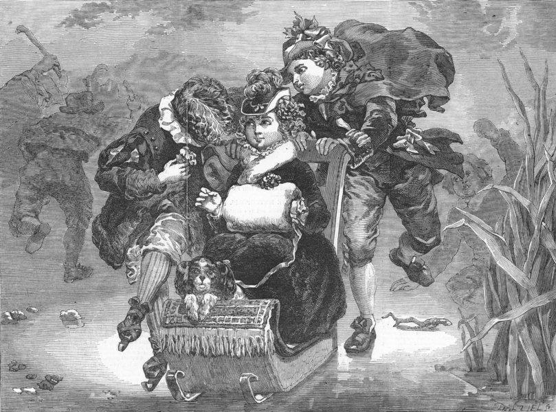 Associate Product CHILDREN. The rivals, antique print, 1850