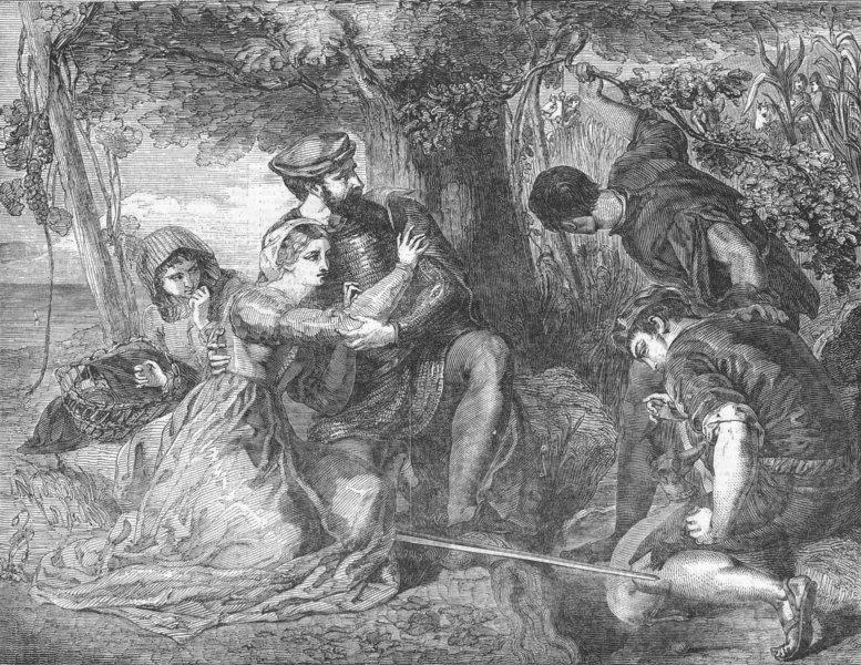 Associate Product ITALY. Francesco Novello Di Carrara & Taddea escape, antique print, 1850