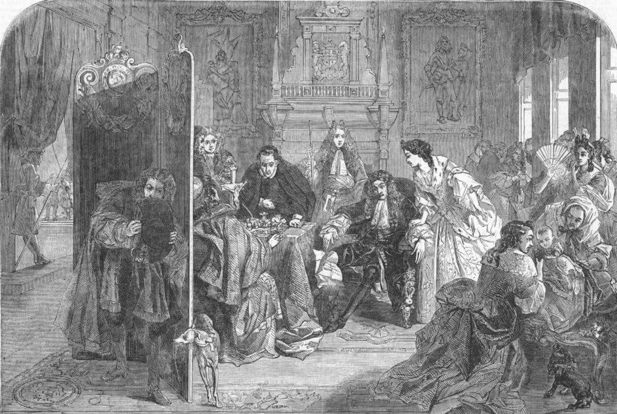 Associate Product LONDON. James II hears Prince of Orange has landed, antique print, 1850