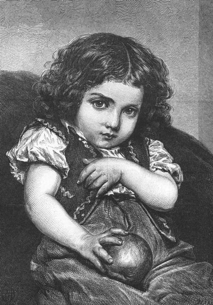 Associate Product CHILDREN. The Spoiled Child, antique print, 1876