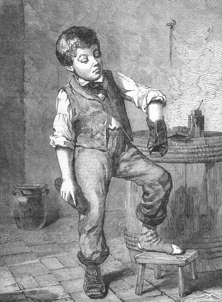 Associate Product CHILDREN. A Sketch, antique print, 1855