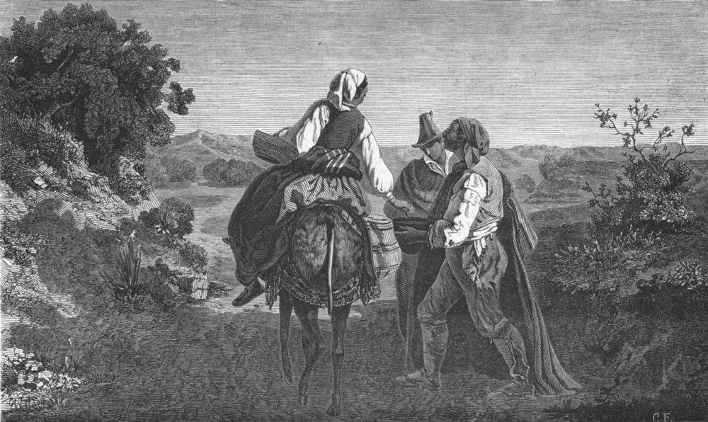 Associate Product PORTRAITS. Spanish beggars, antique print, 1847